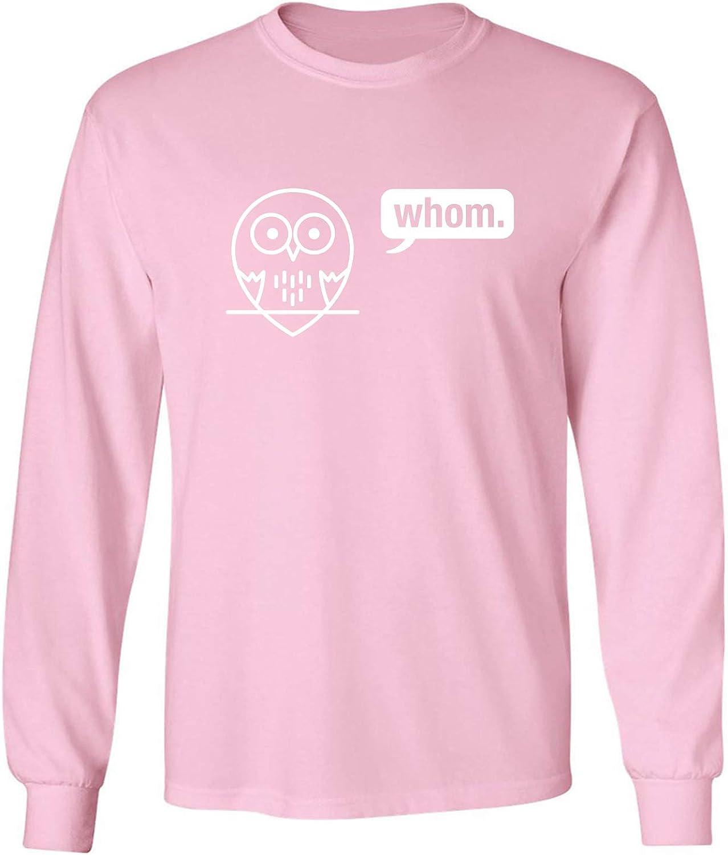 Whom (owl) Adult Long Sleeve T-Shirt