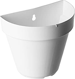 EaglesFord Wall Hanging Pot Set (7-inch, White, 4-Pieces)