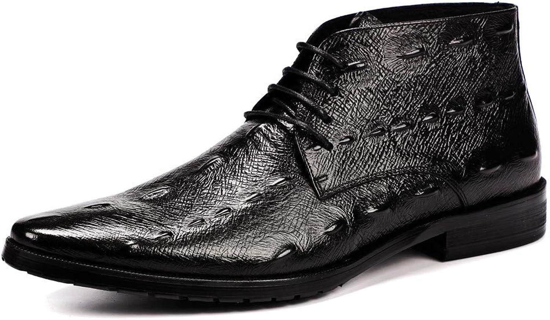Mans Mans Mans Ankle High Leather Lining Oxford Spectator skor s Handgjorda Wing Tip Lace Up Dress skor Elevator skor s skor s skor s  generell hög kvalitet