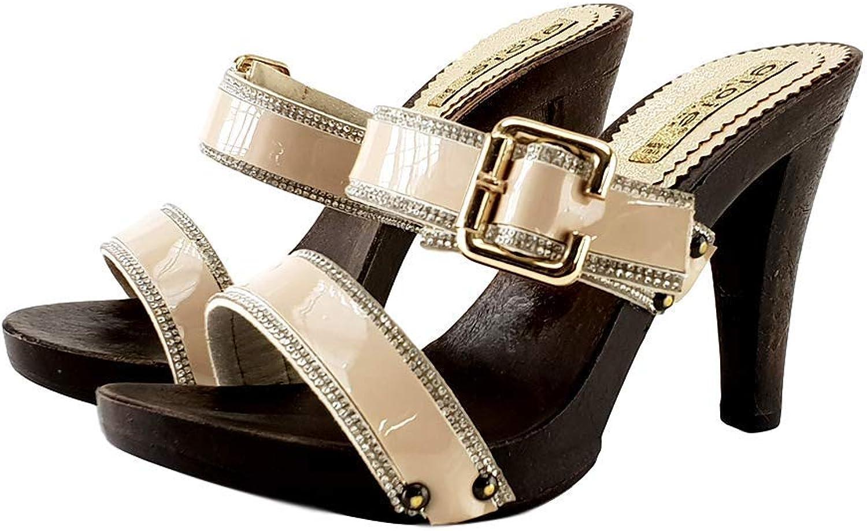 Kiara shoes Clogs Beige 35 41 Heel 11 - G16145 Beige
