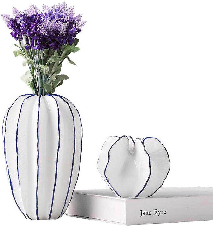 MSF Stand de fleurs Simple Vase En Céramique Moderne Creative Home Decor Intérieur ArrangeHommest De Fleur Salon TV Cabinet Décoration Séchée Fleur Vase