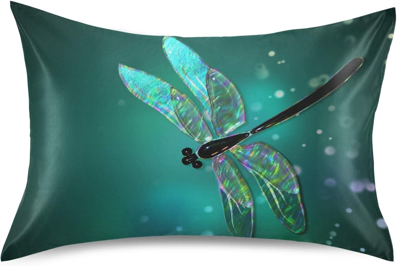 Naivey New life Satin Pillowcase for Hair and Skin 5% OFF Dragonfly Patter Glass