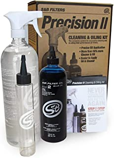 S&B Filters 88-0009 Precision II Cleaning & Oil Kit (Blue Oil)