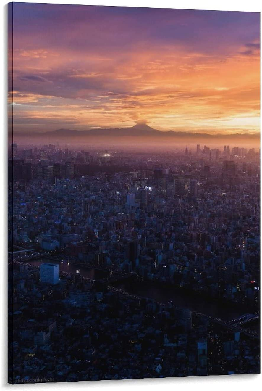 City Landscape Cheap SALE Max 41% OFF Start Cloud Horizon Canvas and Wall Poster Art Pict