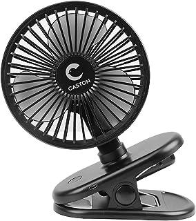 Dstper 扇風機 usb 卓上扇風機 首振り 充電式 強風 静音 ミニ扇風機 長時間連続使用 小型 壁掛け 省エネ クリップ おでかけ 熱中症対策 室内野外など オフィス (黒)