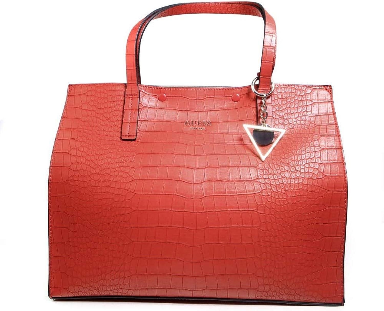 Guess Damen Kinley Large Henkeltaschen Rot, Eine Größe B079MBFBV2