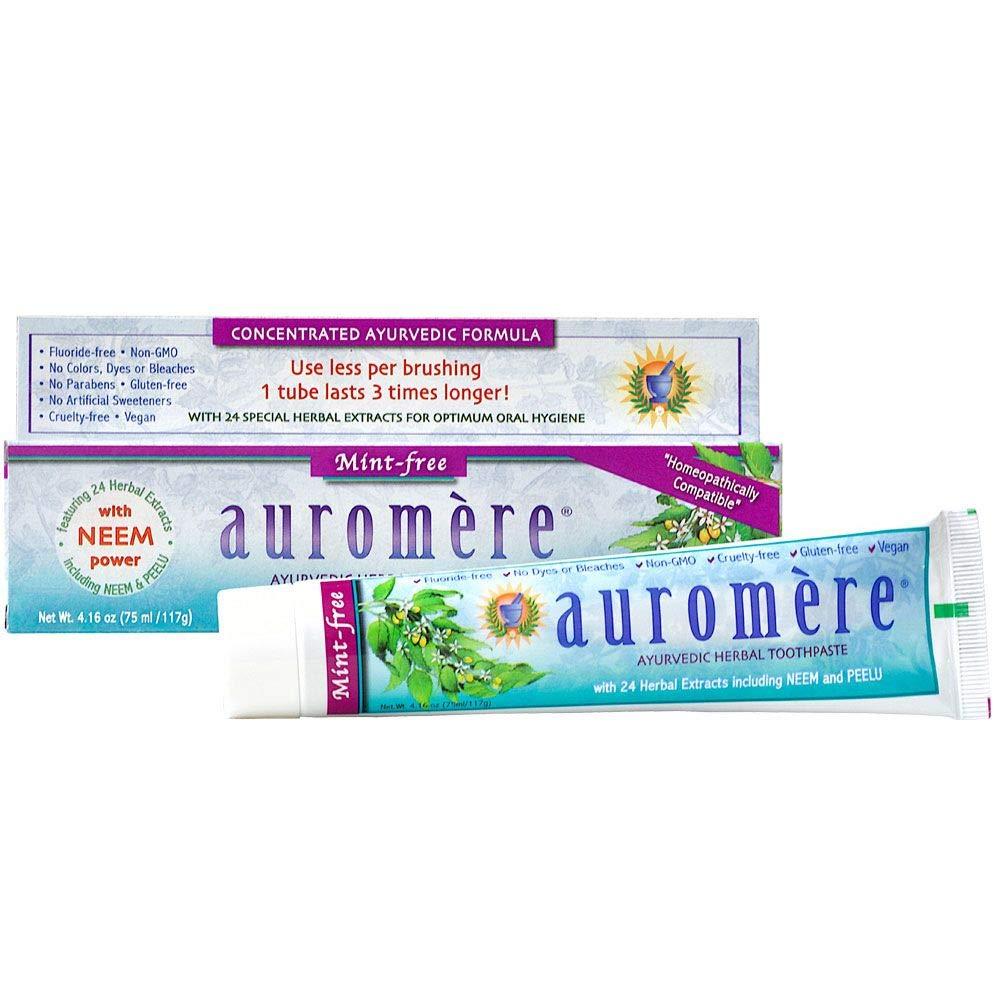 Auromere Ayurvedic Herbal Toothpaste Mint Genuine Natural Max 70% OFF - Free Vegan