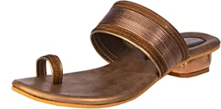 Khadim's Synthetic Neolite Sole Casual Brown Dual Tone Sandal For Women