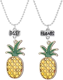 MJartoria New BFF Necklaces for 2 Best Friend Necklaces-Girls Boys Pendant Necklace Best Buds Cute Avocado with Heart Friendship Necklaces Set