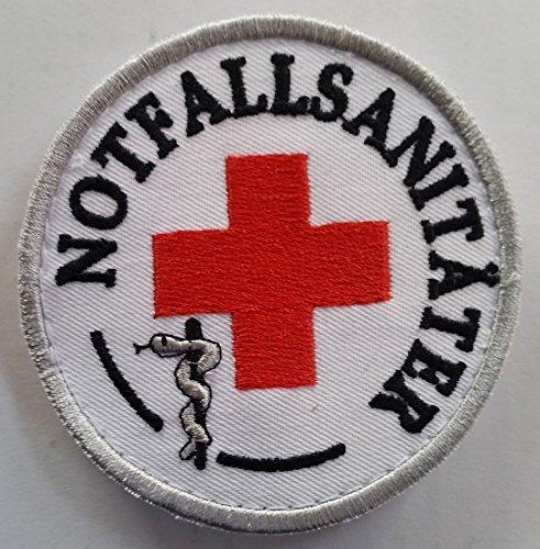 DRK Notfallsanitäter Emblem MIT KLETT - Patch - DRK Funktionsabzeichen - MIH