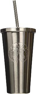 Limited Edition Starbucks Steel Tumbler Holiday 2017 16oz Grande Tumbler Lid Straw