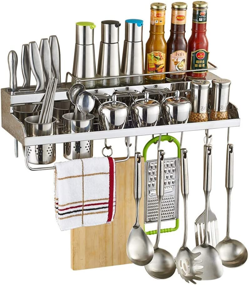 HUO Multifunctional Wall-Mounted NEW before selling Kitchen Rack Ki Hanger Hook Max 68% OFF and