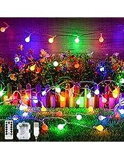 LED-kula ljuskedja, 40-talet 8 lägen LED-glob ljuskedja, USB/batteridrift och vattentät boll ljuskedja dekoration med timer och fjärrkontroll för inomhus, utomhus, fest, bröllop, fest dekoration