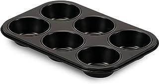 Formegolose 89906FG plaque à 6 muffins, 18,5 x 27 cm, Steel, Noir