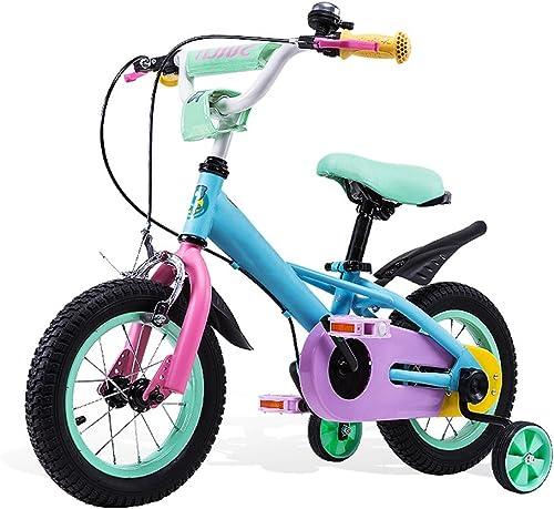 Kinderfürr r HAIZHEN Kinderwagen 6-7-8-9-10 Jahre alt mädchen Kinderwagen Baby fürrad 12 14 16 Zoll Bunter Kinderwagen Ergonomisches Design Reiten sicherer Für Neugeborene (Größe   18 inch)