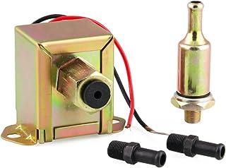 Bomba de combustible,Baugger- Bomba de combustible universal Bomba de combustible eléctrica de facetas de 12 V con unicons de combustible y filtro en línea para motor de gasolina diesel