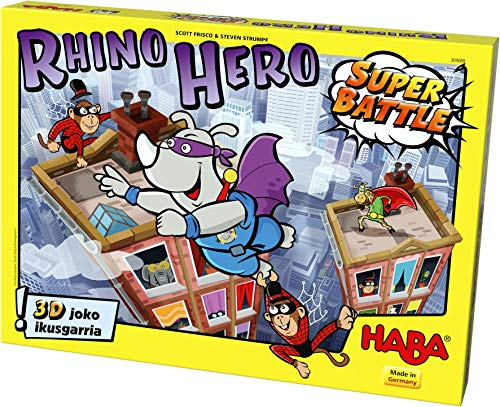 Haba- Rhino Hero – Super Battle -EUS, Multicolor (Habermass 304088)