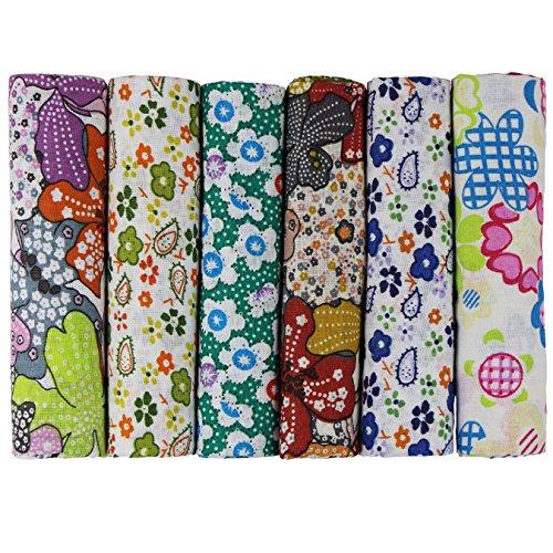 aufodara 6 Stueck 50 x 50cm Stoffpakete Patchwork Stoffe Baumwolle Tuch DIY Handgefertigte Nähen Quilten Stoff Baumwollgewebe Verschiedene Designs (U-B901)