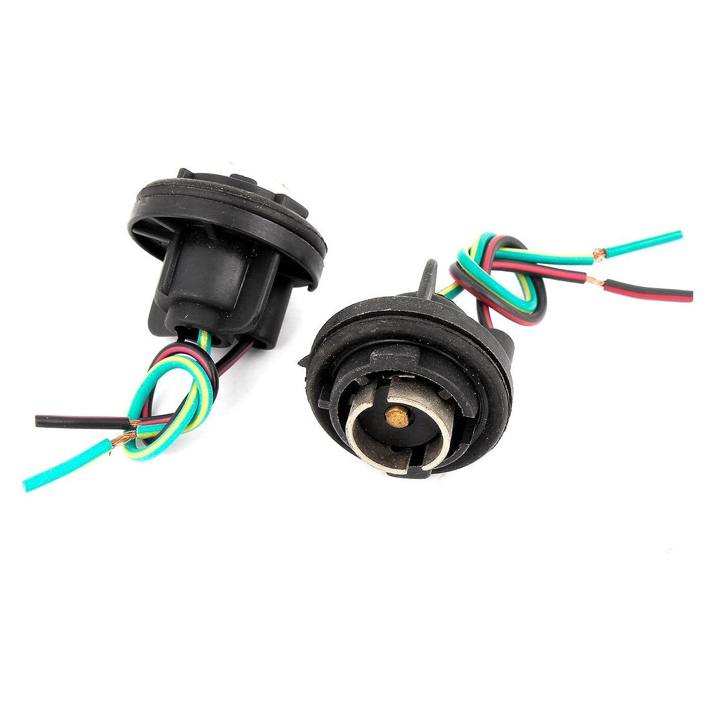 むしろダイバー不適当uxcell カー ライトソケット ハーナス 1156ブレーク ター シングル ワイヤ LED 2本入り