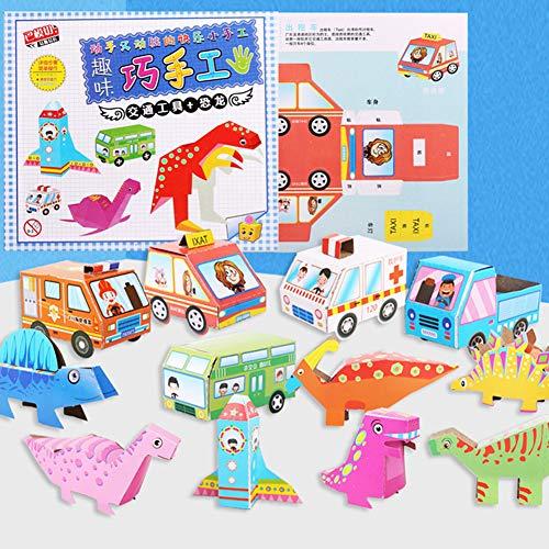 BeesClover Kids DIY Kleurrijke Puzzel Papier Kunstnijverheid Kindertuin Primaire School Educatief Speelgoed Papier Vouwen Kunst Speelgoed voor Kinderen