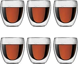 【Amazon.co.jp限定】 BODUM ボダム PAVINA パビーナ ダブルウォールグラス 250ml 6個セット 4558-10-12J