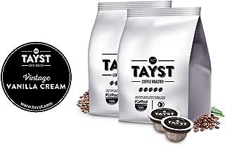 Tayst Vanilla Coffee Pods   50 ct. Vintage Vanilla Cream   100% Compostable Keurig K-Cup compatible   Gourmet Coffee in Earth Friendly packaging