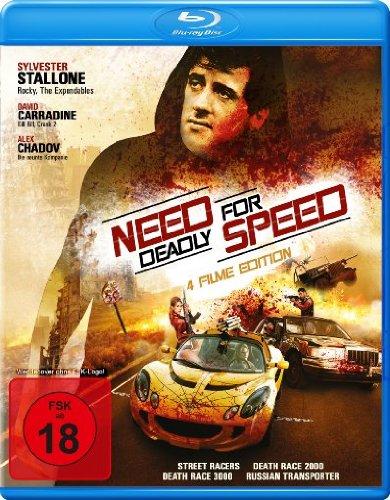 Need for Deadly Speed (4 Filme Edition: Street Racer / Death Race 2000 / Death Race 3000 & Russian Transporter) [Blu-ray]