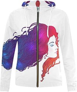InterestPrint Women's Zipper Hoodies Sweatshirt with Design