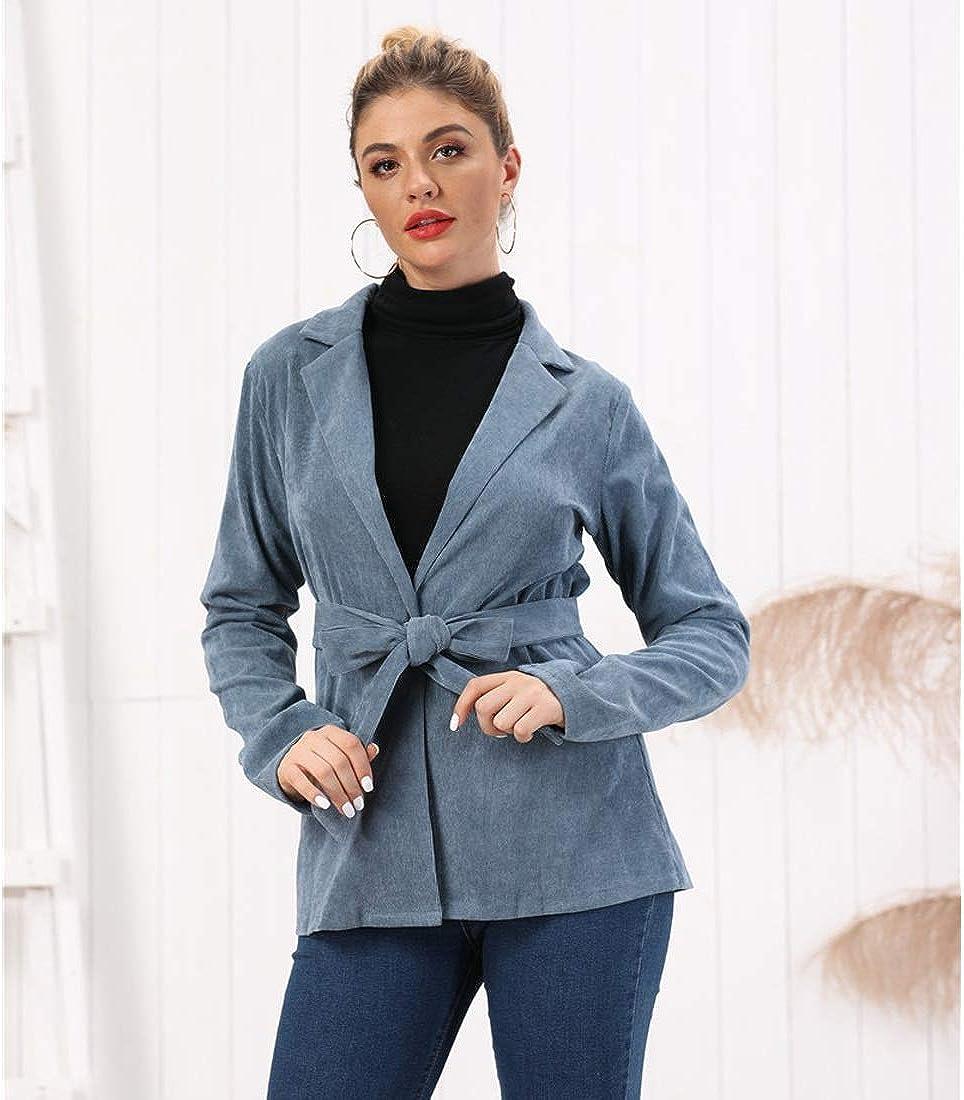Retro Stylish Lapel Max 54% OFF Popular product Waist Corduroy Jacket coat