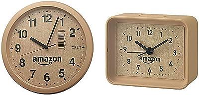 【Amazon.co.jp限定】リズム時計 段ボール風掛け時計 4KG712CZ06 & 【Amazon.co.jp限定】リズム時計 段ボール風目覚まし時計 4SE555AZ06【セット買い】