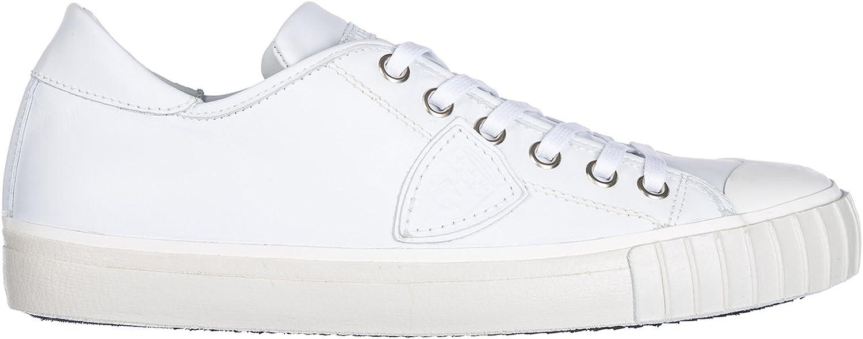 Philippe Model Mans skor läder Trainers skor Gare vit vit vit  billig grossist