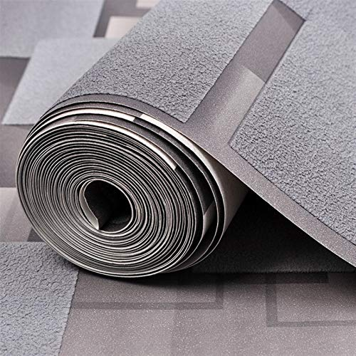 kengbi Fácil de decorar popular duradero papel pintado moderno 3D celosía no tejida de gamuza papel pintado para paredes rollo papel de parede 3D sala de estar dormitorio TV fondo pared decoración