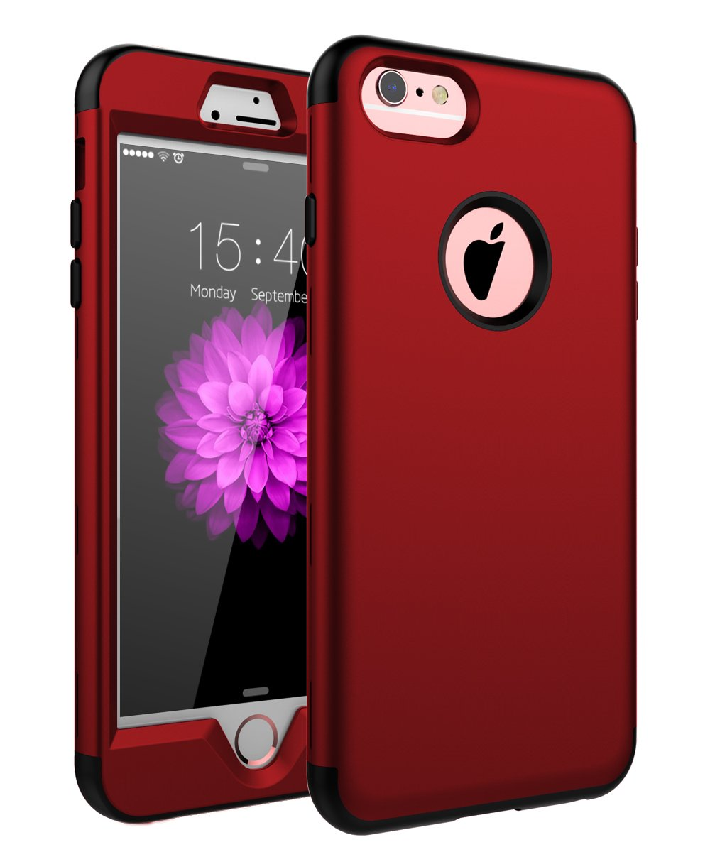 red iphone 6 plus case amazon comskylmw case for iphone 6 plus, case for iphone 6s plus, three layer heavy