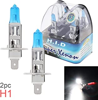 2pcs 12V H1 55W 6000K White Light Super Bright Car Xenon Halogen Lamp Auto Front Headlight Fog Bulb