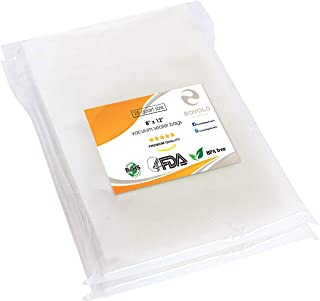 Vacuum Sealer Bags - Vacuum Storage Bags - Sous Vide Bags - Healthy Food Storage by BOVOLO - 8x12 Inch Quart Sized Vacuum Seal Bags - Commercial-Grade BPA-Free FDA-Approved Food Preservation Bags