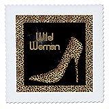 3dRose qs 21804 1 Cheetah Print Wildl Woman Stiletto Pump and Diamond Bling