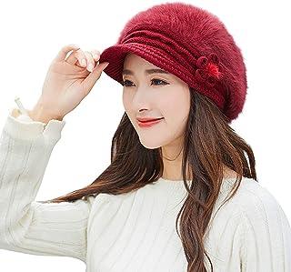 c48c4ba1d972f7 Leoy88 Ladies Retro Solid Bow Hat Turban Brim Hat Cap Pile Cap Women  Sunglasses & Eyewear Accessories