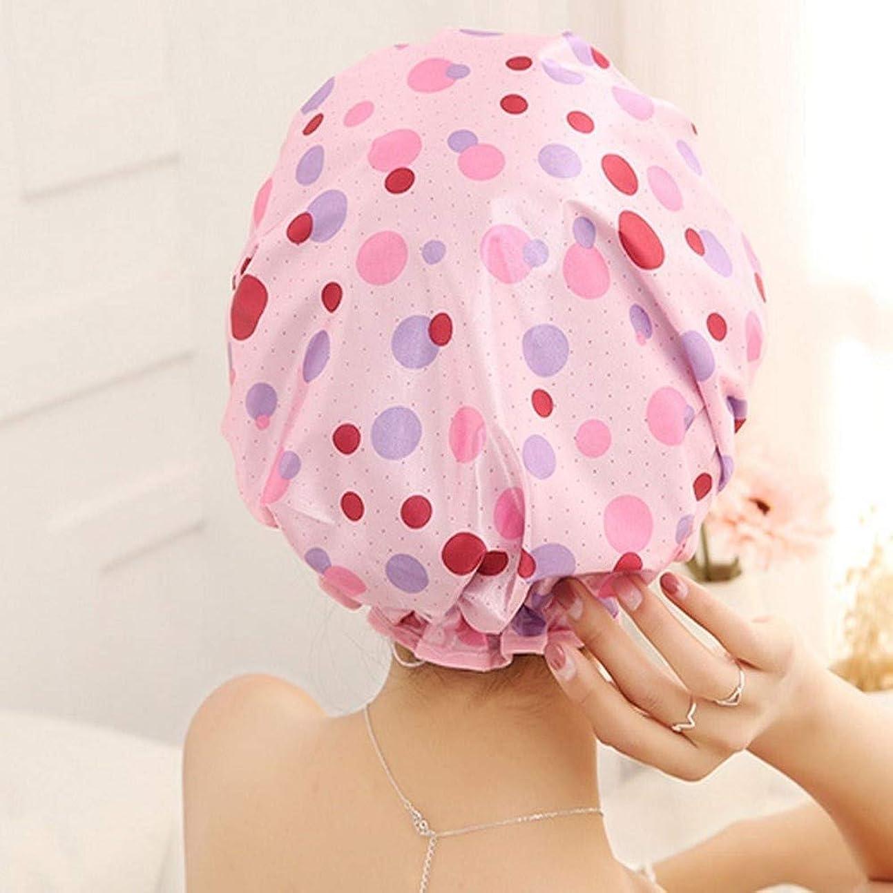 事業内容イチゴ知り合いになるPFKE キャップシャワー、女性が女性のすべての髪の長さと厚さに適しキャップデラックスシャワーキャップシャワー - 耐性防水やカビ、再利用可能なシャワー。 シンプルで実用的な製品 (Color : 3)