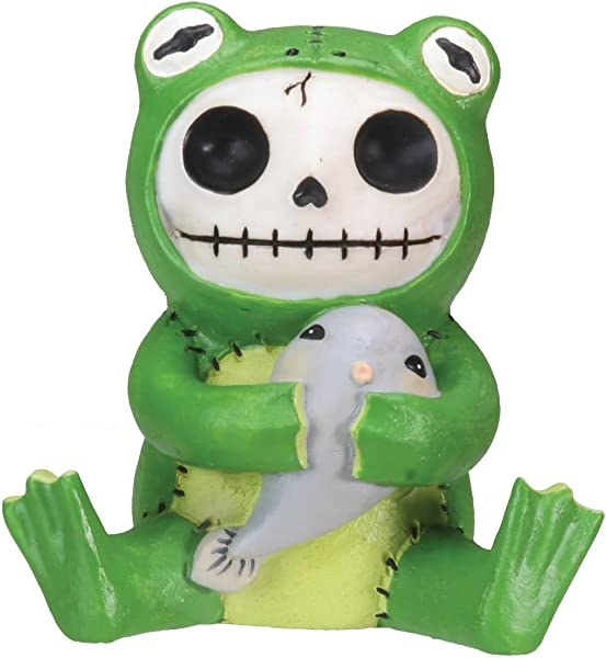 Froggie Frog Furry Bones Figurine Display