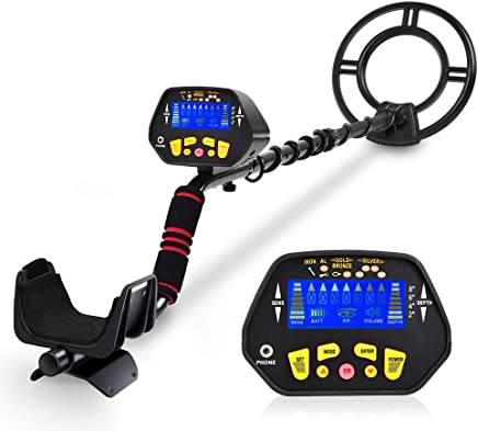 Metal Detector - High-Accuracy Metal Finder with LCD Display, Discrimination Mode, Distinctive