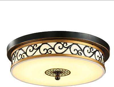 Colonial Deckenleuchte Landhaus Ø 40 cm Honsel Deckenlampe rund antik Glasschirm