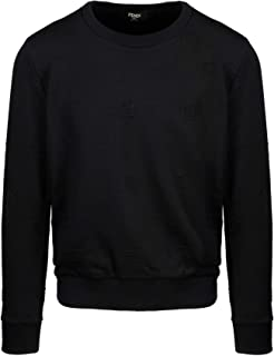 FENDI Luxury Fashion Mens FAF535ABTDF0GME Black Sweatshirt | Spring Summer 20