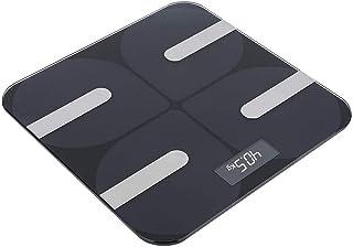 ZCY Báscula Corporal Inteligente, báscula electrónica de Peso, Negra Smart para el hogar con Peso Corporal