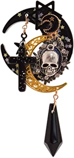 Lolita Trappings Gothic Girls Cross Pentacle Stars Moon Skull Hair Clip Lolita Girls Headwear Hat Clip Hair Accessories Vintage