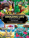 Amazing Life Collection Coloring Book: An Adult Coloring Book Featuring 100 Amazing Coloring Pages from the €˜Life Series€™ Including: Beach Life, Cabin ... Island Life for Stress Relief and Relaxation