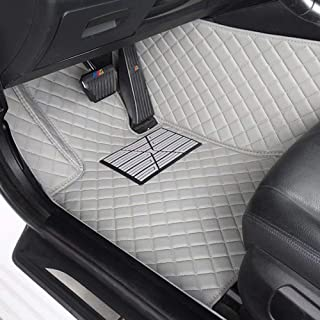 CNANOO Impermeable Custom Fit Luxury XPE Leather Car Floor Mats All Weather 3D Full Rounded Front Rear Car Floor Liners para Mercedes Benz S Class S280 S300 S320 S400 S500 S550 2000-2005, Gris