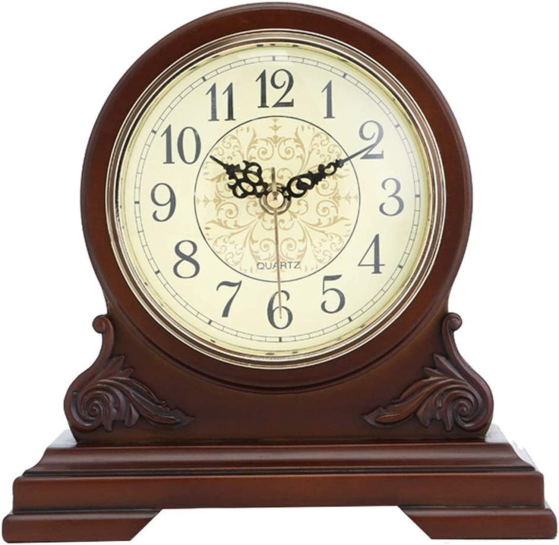 デスククロックファミリークロック、ウッドクロック刻々と過ぎないサイレントマントルクロック装飾的な寝室のリビングルームの置時計リビングルームの寝室のオフィスに適して