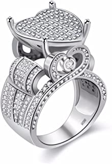 Best heart cluster ring Reviews