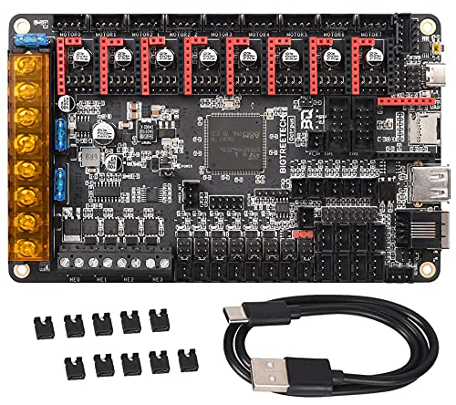 BIGTREETECH 3D Printer Upgrade Motherboard Octopus V1.1 Control Board 32bit Compatible TMC2209, TMC2208 Driver, Support DIY Klipper Firmware and Raspberry Pi Online Printing for Voron 3D Printer
