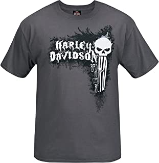 Harley-Davidson Military - Men's Short-Sleeve Smoke Grey Graphic T-Shirt - Bagram Air Base | Can Be Bad